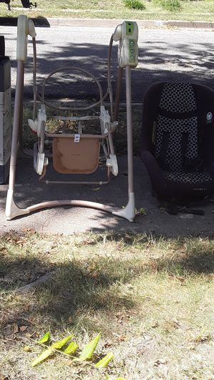 I've got a swing and rocker by Fisher-Price it's a three-in-one I have a cart are carseat and I also have a playpen any package and miscellaneous toys for Sale in Wichita, KS