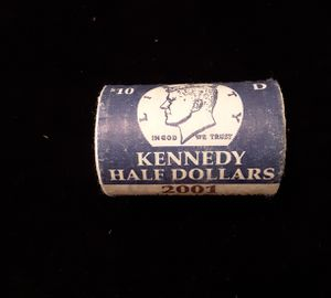 2001 D US Mint KENNEDY Half Dollar Uncirculated Mint Roll Coins for Sale in Land O Lakes, FL