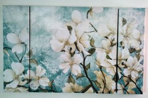 Floral 3 Piece Canvas Design Painting for Sale in Atlanta, GA