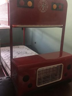 Red Fire Truck Bunk Bed for Sale in West Valley City,  UT