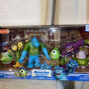New!!! Disney Pixar Monster Inc. University Frat Pack, Target Exclusive Set for Sale in Little Lake, CA