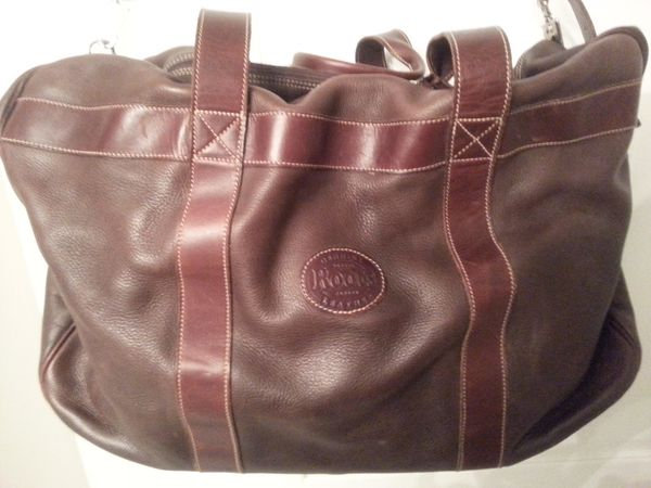 Roots Leather Duffle Bag - $125