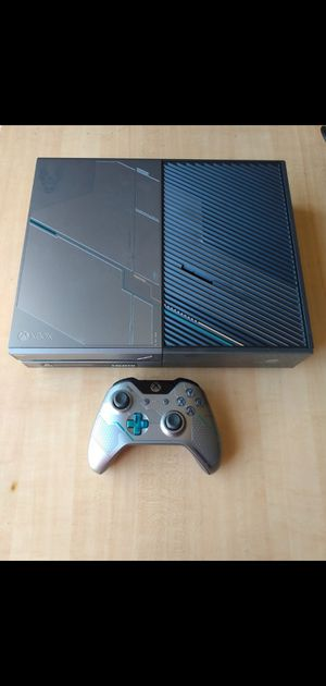 Limited edition 1 tb halo 5 Xbox 1 console sale or trade read description please for Sale in Stockton, CA