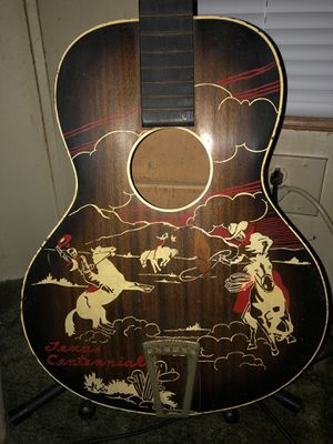 Very Rare 1936 Melody King Texas Centennial Parlor Guitar for Sale in Dundee, MI