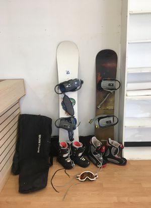 2 snowboards w/bags & shoes for Sale in San Bernardino, CA
