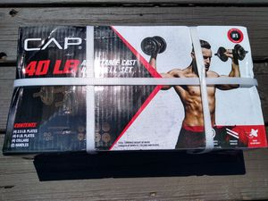 CAP 40 lb Adjustable Cast Dumbbell Set - BRAND NEW IN HAND! for Sale in Pottsville, PA
