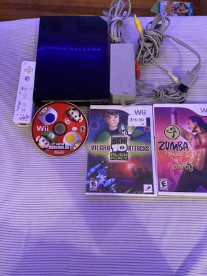 Wii 1 controller, 3 games for Sale in City of Orange, NJ