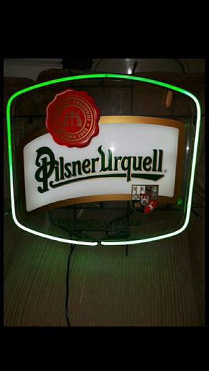 Will trade for New Larger Air Conditioner-(Never Used )- Neon Pilsner Urquell Neon Beer Sign. Sold for $416.04. Sells upto $594.99 now. for Sale in Newfield, NJ