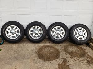 Tires and rims off 2015 HD Silverado truck 4x4 for Sale in Lewisville, TX