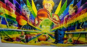 Vintage Larry bird very rare signed by artist for Sale in Terre Haute, IN