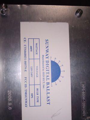 600 watt digital ballast for Sale in Columbus, OH