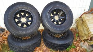 Chevy 6-lug Aluminium Bullet Rims&Tires for Sale in Lynnwood, WA