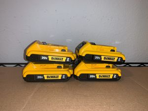 New 20V Batteries. 2ah for Sale in Dallas, TX