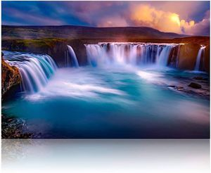 (FREE SHIPPING) Brand New Iceland Godafoss Waterfall Landscape Canvas Modern Home Décor for Sale in Lansing, MI