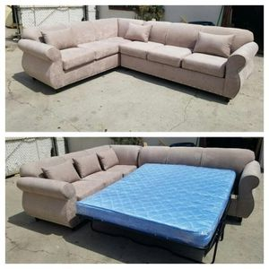 NEW 7X9FT BARCELONA CREAM FABRIC SECTIONAL WITH SLEEPER COUCHES for Sale in Imperial Beach, CA