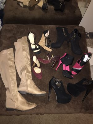 Lot of 6 pairs of like new size 9.5/10 heels for Sale in Douglasville, GA