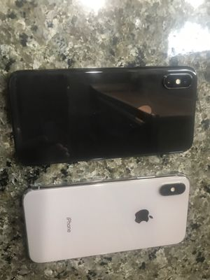 IPhone X 64 Verizon Unlocked with case one silver one black 600 each for Sale in Lynnwood, WA