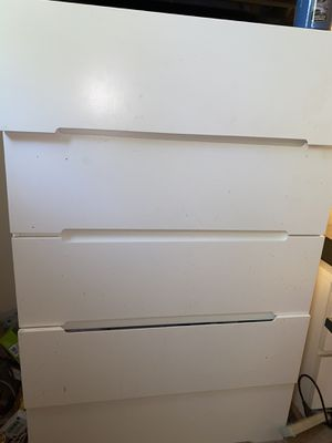 5 big drawer dresser real wood and other two small drawers are included for Sale in Castro Valley, CA