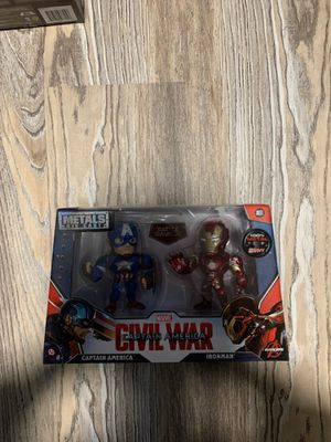 Captain America and Iron Man Metal Figure for Sale in Philadelphia, PA