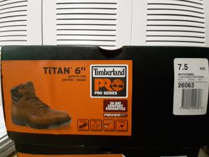 "MEN'S TIMBERLAND PRO® TITAN® 6"" ALLOY TOE WORK BOOTS Size 7.5 WL for Sale in Hialeah, FL"