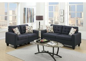 Brand New BLACK 2pc Sofa and Love Seat for Sale in Las Vegas, NV