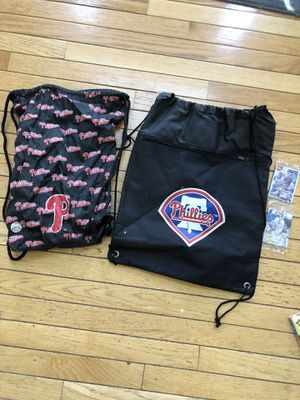Two Phillies backpacks and baseball cards for Sale in Holland, PA