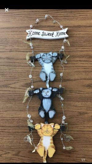 Home Sweet Home 3 cats wall hanging for Sale in Appleton, WI