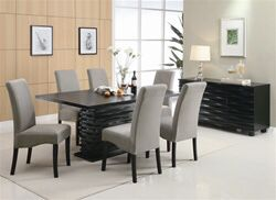 Stanton 5 Piece Dining Set in Rich Black Finish by Coaster - 102061 for Sale in Naples, FL