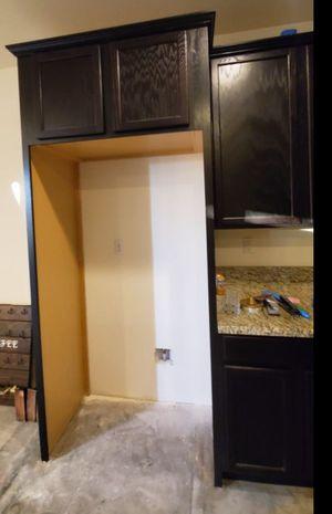 Dark wood kitchen cabinets for Sale in Wildomar, CA