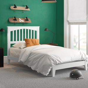 White Twin Bed for Sale in Newark, CA