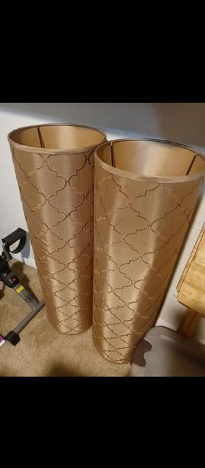 Tall lamp shades for sale. Must go ASAP! for Sale in DW GDNS, TX