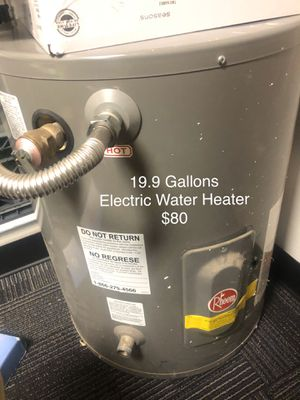 19.9 gal electric water heater-PENDING PICKUP for Sale in Garland, TX