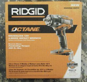 """New Ridgid Octane R86011B 18V 18 Volt 1/2"""" Brushless 4 Mode Impact Wrench (NIB) for Sale in St. Petersburg, FL"""