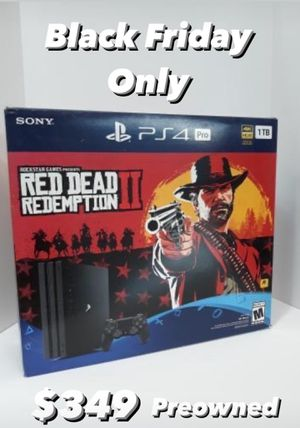 Preowned Red Dead Redemption II PS4 Pro Bundle for Sale in Houston, TX