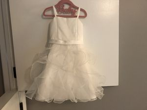 White Flower Girl Dress Size 2-3Y - Wedding, Baptism, Party for Sale in St. Charles, IL