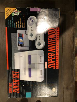 Super Nintendo with used game for Sale in Silver Spring, MD
