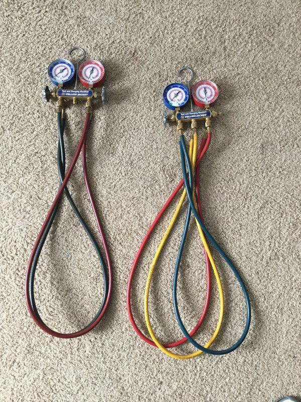 Yellow Jacket Freon gauges