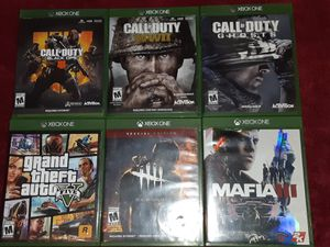 XBOX GAME 6 GAME BUNDLE for Sale in Madison Heights, VA