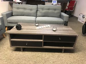 Coffee Table, Distressed Grey and Black for Sale in Pico Rivera, CA