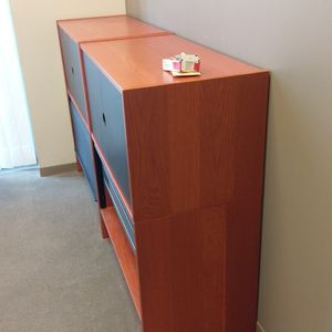 2x Bush furniture Commercial Filing Cabinet With Enclosed Book Shelf Case for Sale in Irvine, CA