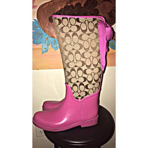 Coach rain boots size 9 for Sale in San Diego, CA