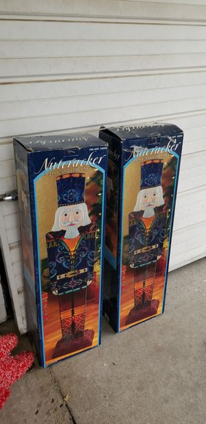 Two stained glass Nutcracker candle holders. Great condition. for Sale in Ceres, CA