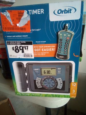 Orbit wireless remote sprinkler timer for Sale in Lithonia, GA