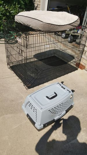 Extra large dog crate with bed and small crate for Sale in Hillsborough, NC