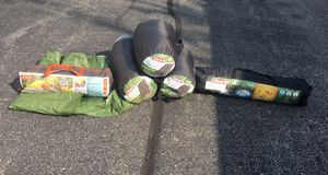 3 Coleman Sleeping bags, Coleman Tent and Embrak Tent Like NEW for Sale in Chicago, IL