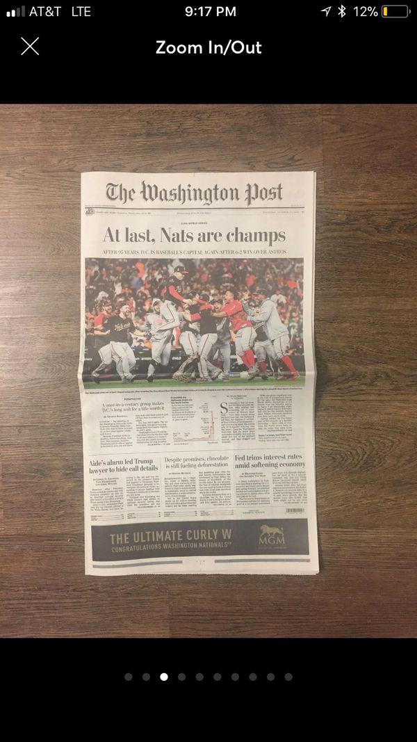 2 COPIES - Washington Nationals World Series Champs - The Washington Post