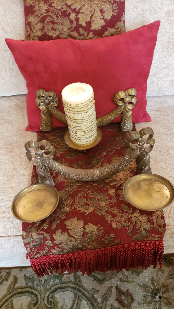 Beautiful vintage wall candelabra set