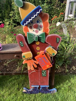 Clown for your party! Handmade an painted. for Sale in Portland, OR