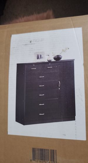 7 drawer dresser with cabinet for Sale in Columbus, OH