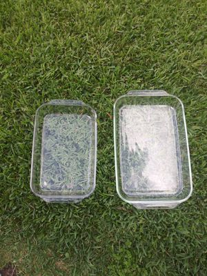 """""""Pyrex Corning"""" 4Q & 3Q Clear Glass Baking Dishes for Sale in Houston, TX"""